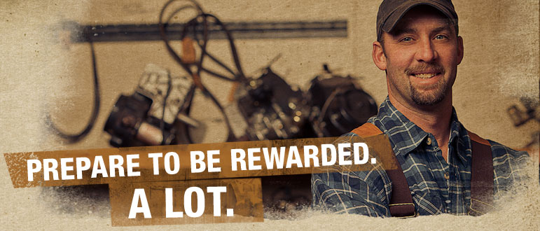 Prepare to be rewarded. a lot.